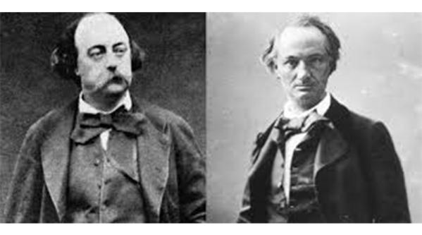 Gustave Flaubert y Charles Baudelaire